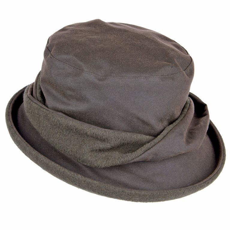 Heather Hats Adrienne Wax Hat - Dark Olive