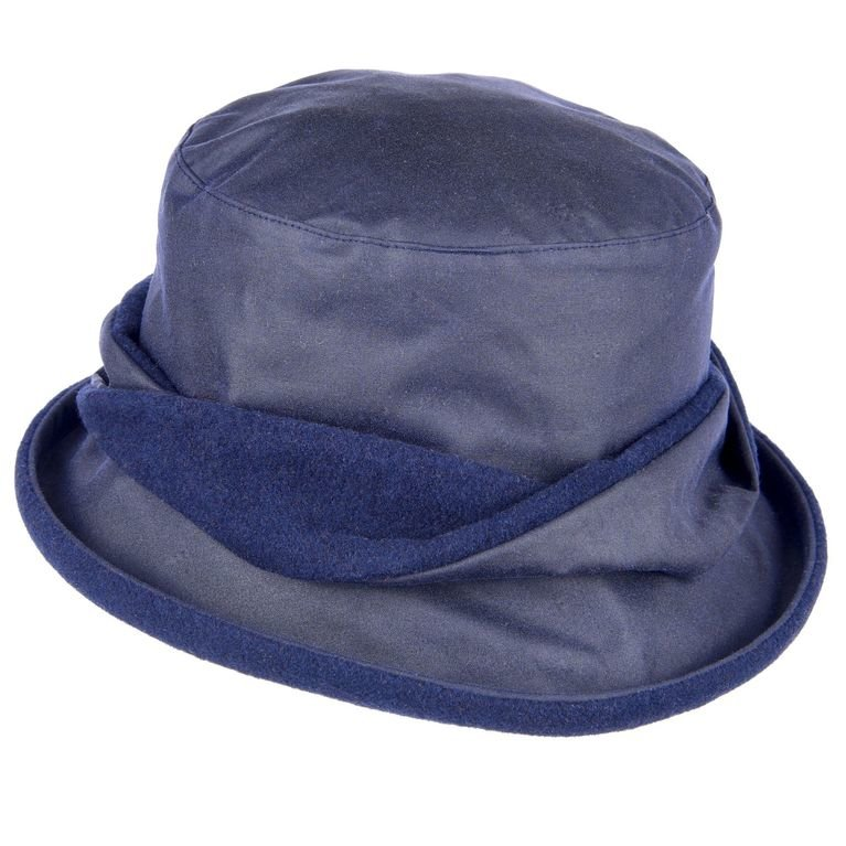 Heather Hats Adrienne Wax Hat - Navy