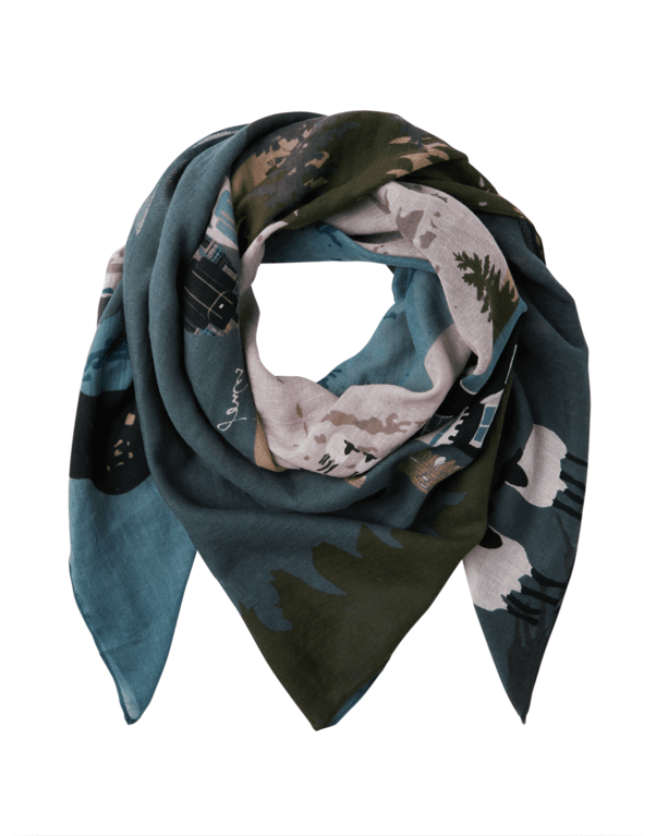 Joules Atmore Scarf - Pink Location