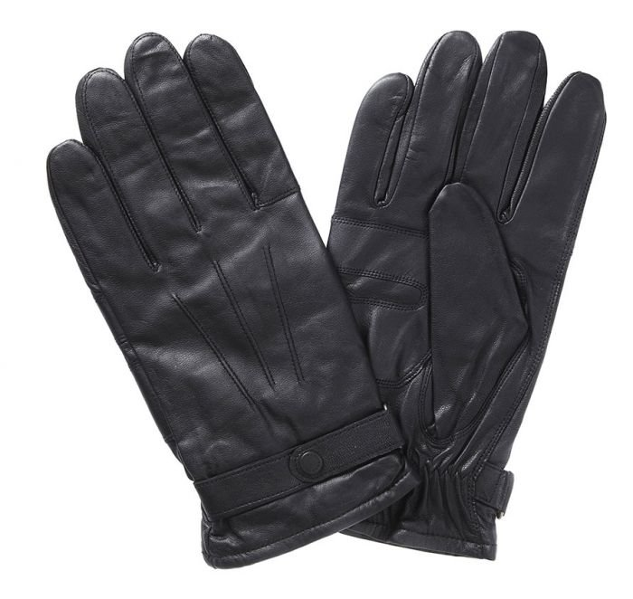 Barbour Burnished Leather Thinsulate Gloves - Dark Brown