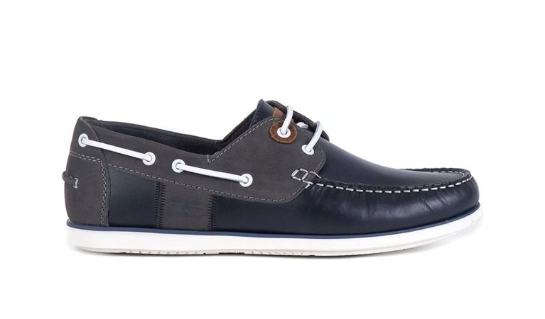 Barbour Capstan Boat Shoe - Navy/Grey
