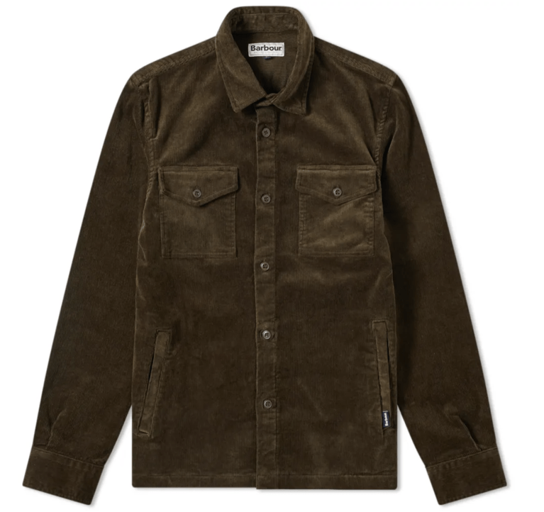 Barbour Cord Over Shirt - Olive