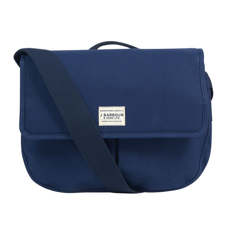 Barbour Cotton Canvas Tarras Bag  - Navy