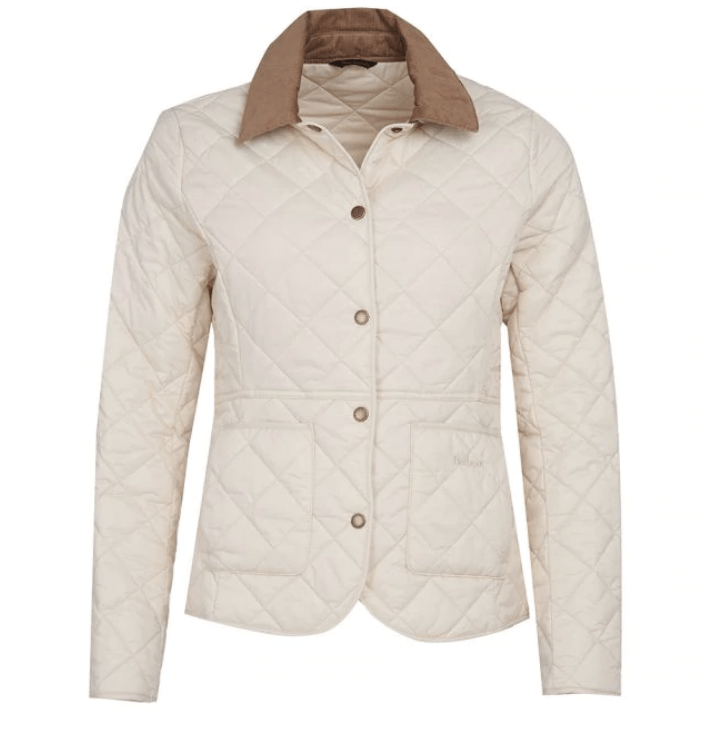 Barbour Deveron Quilted Jacket - Cream