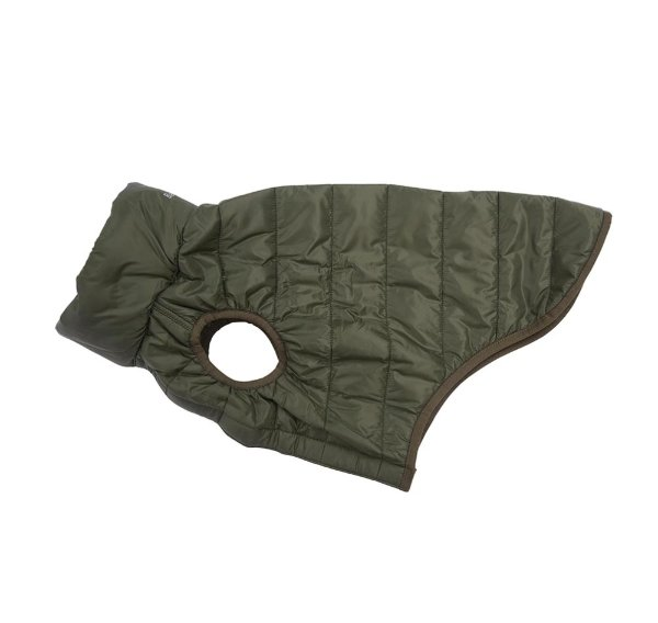 Barbour Dog Baffle Quilt Jacket - Olive