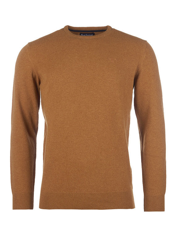 Barbour Essential Lambswool Crew - Dark Copper