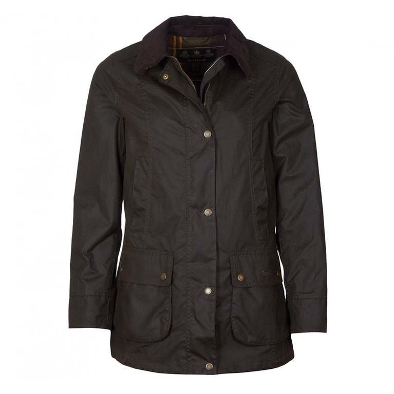 Barbour Fiddich Wax Jacket  - Olive Classic