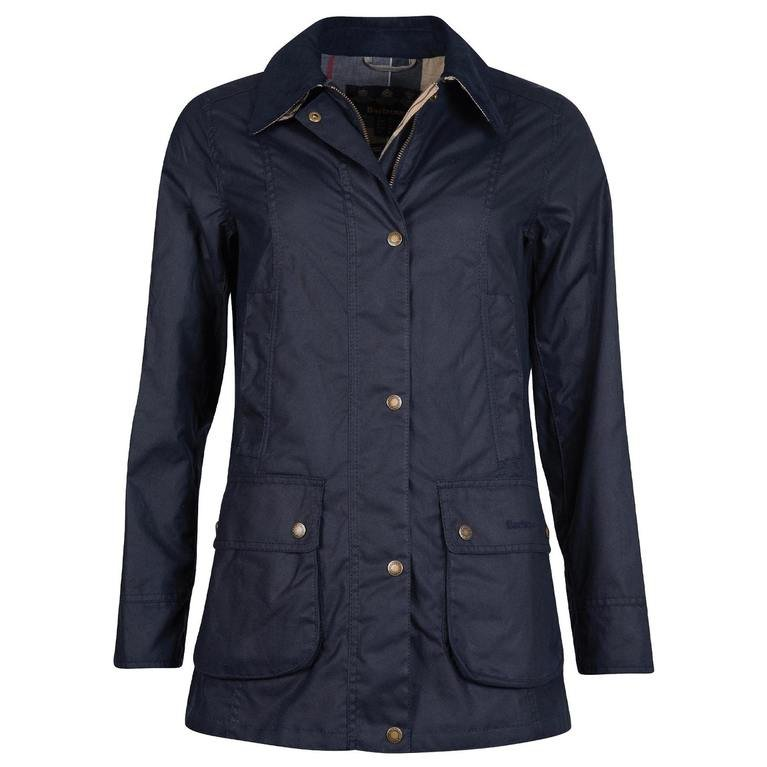Barbour Fiddich Wax Jacket  - Navy Dress