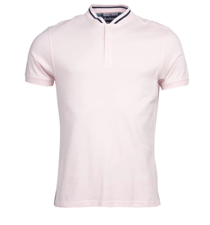 Barbour Galloch Sports Collar Polo Shirt - Chalk Pink