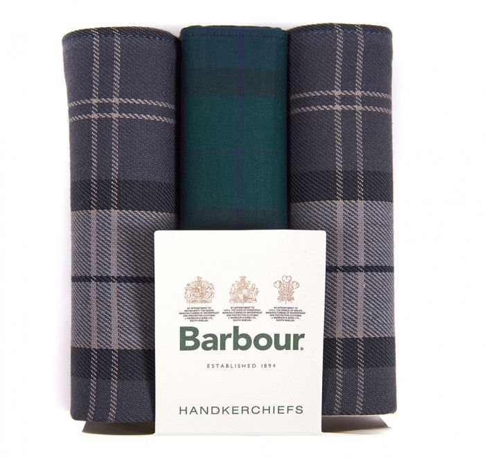 Barbour Handkerchief Pack - Black Watch/Monochrome