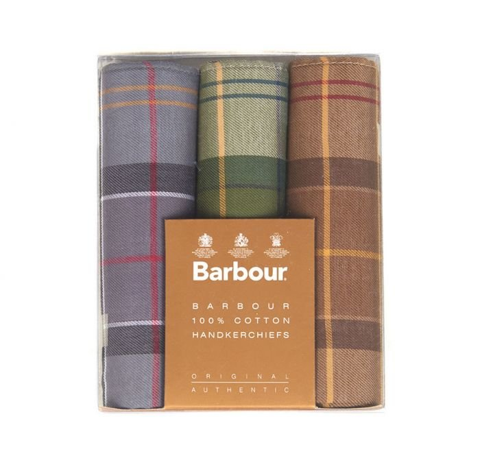 Barbour Handkerchief Pack - Barbour tartan Assorted