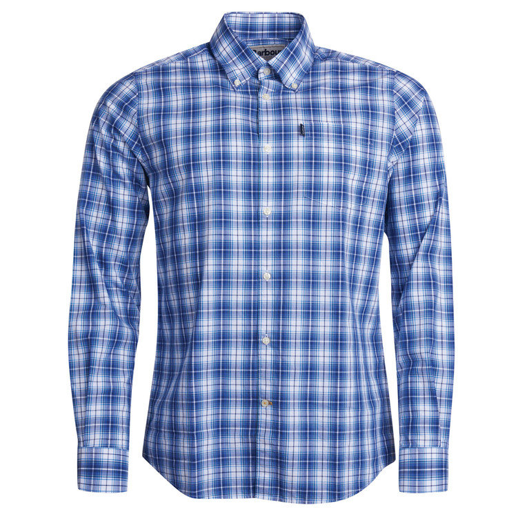 Barbour Highland 3 Tailored Shirt - Mid Blue
