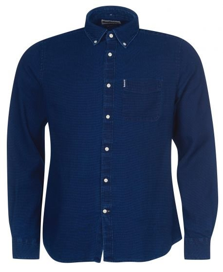 Barbour Indigo 10 Tailored Fit Shirt  - Indigo