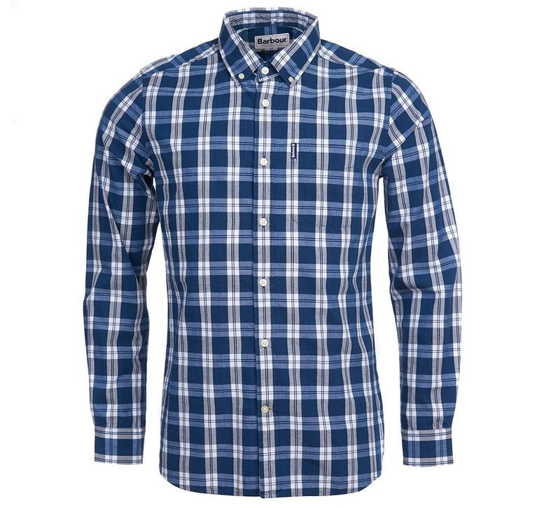 Barbour Indigo 8 Check Shirt - Indigo