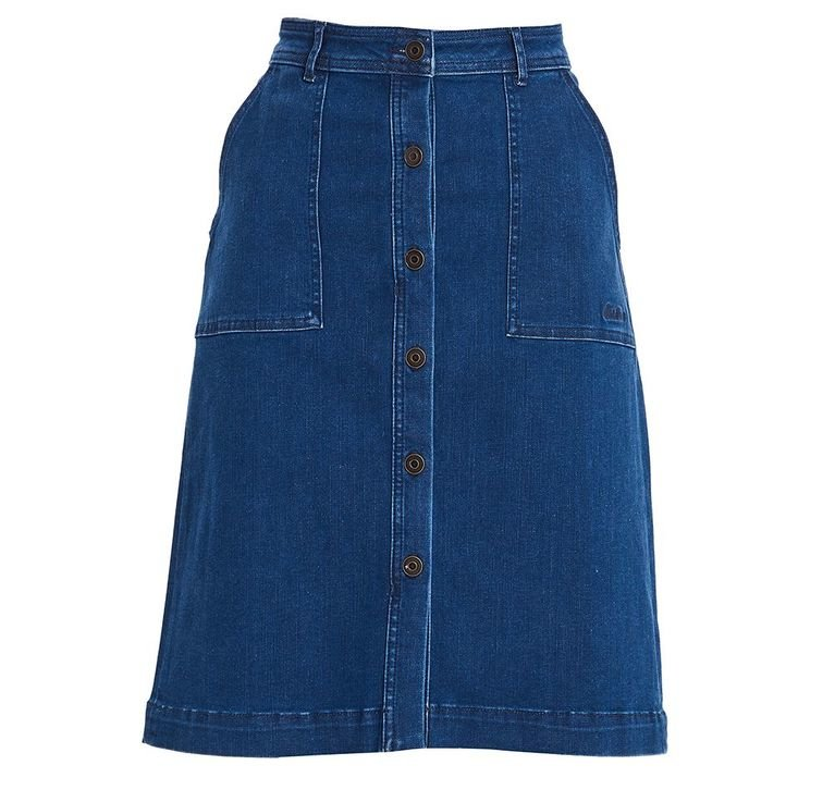 Barbour Madison Denim Skirt - Mid Wash