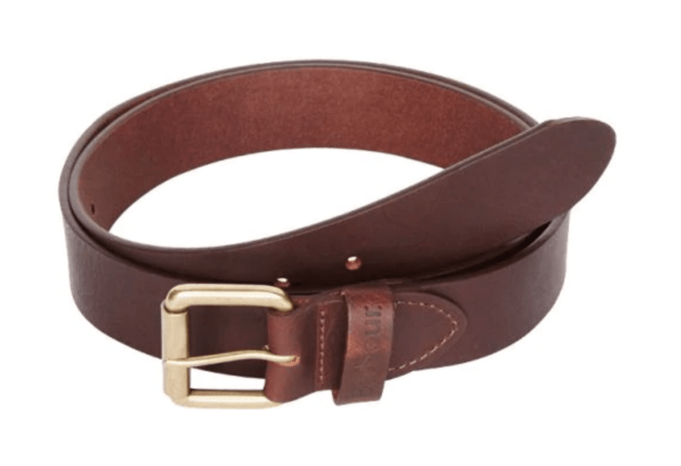Barbour Matt Leather Belt - Brown