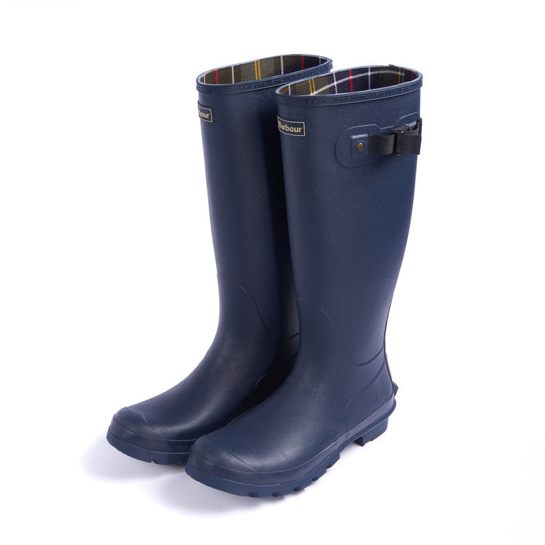 Barbour Mens Bede Welly - Navy