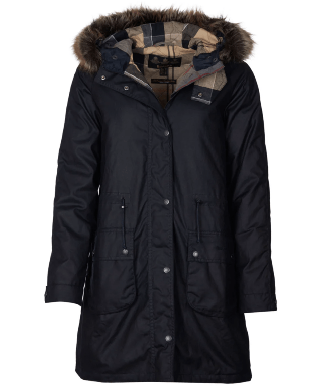 Barbour Mull Wax Jacket  - Navy