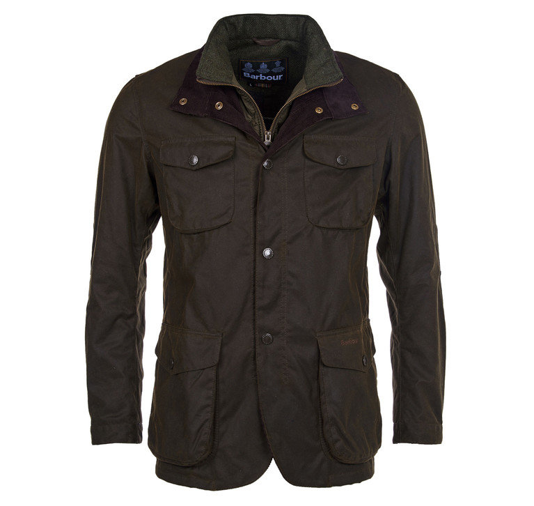 Barbour Ogston Wax Jacket - Olive