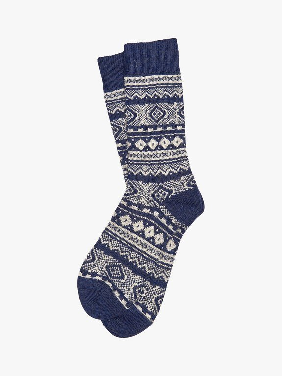 Barbour Onso Fairisle Sock  - Navy