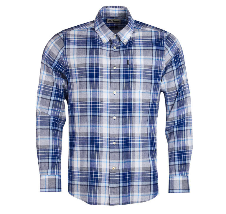 Barbour Oxford 3 Check Tailored Shirt - Electric Blue