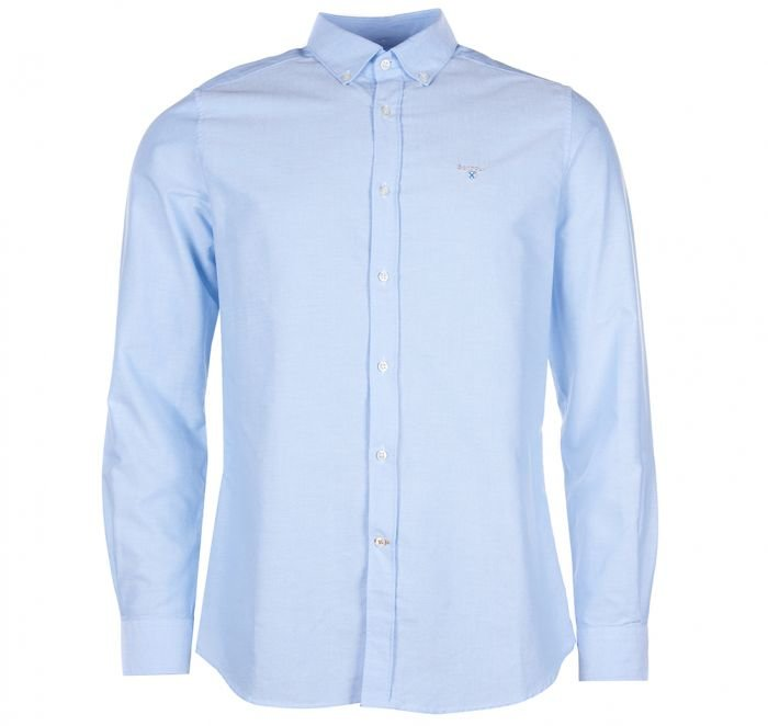 Barbour Oxford 3 Plain Shirt - Sky