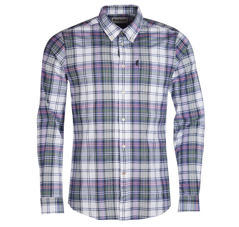Barbour Oxford Check 2 Tailored Shirt - White