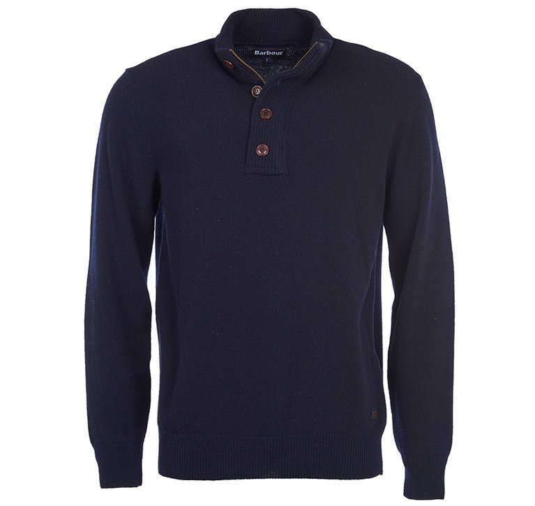 Barbour Patch 1/2 Zip Sweater - Navy