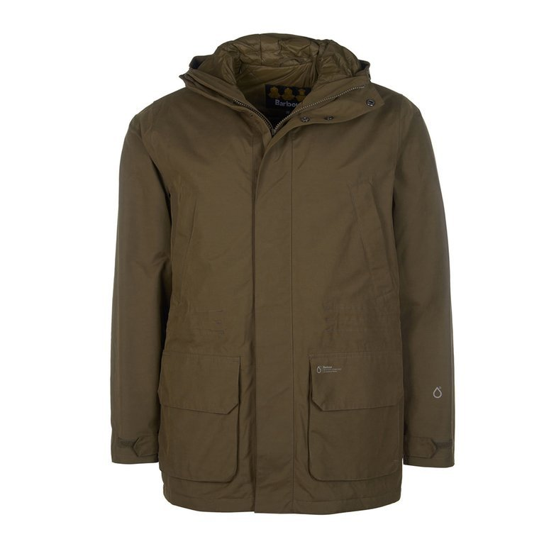 Barbour Pitstone Waterproof Jacket - Army