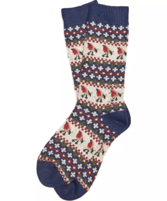 Barbour Robin Fairisle Sock - Navy