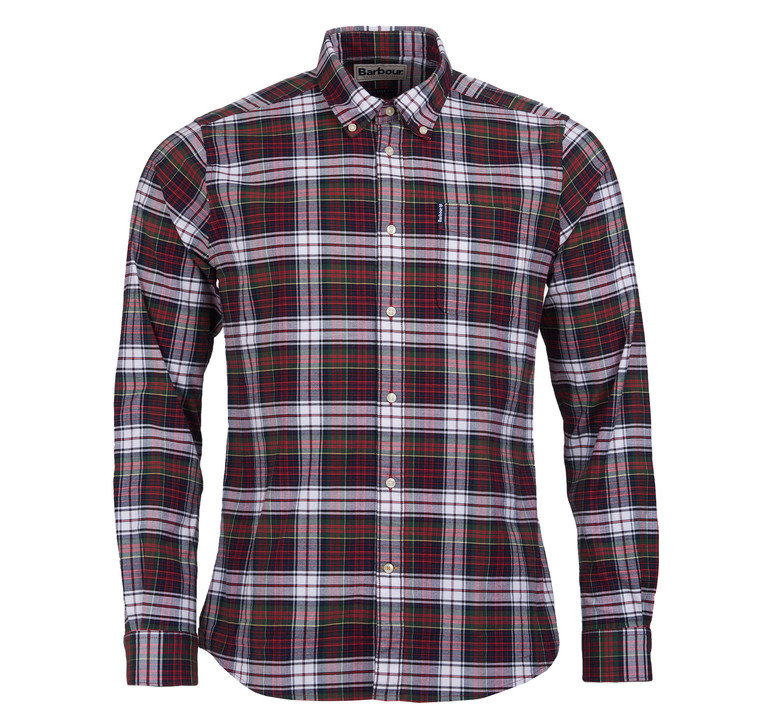 Barbour Highland Check 11 Tailored Shirt - Red