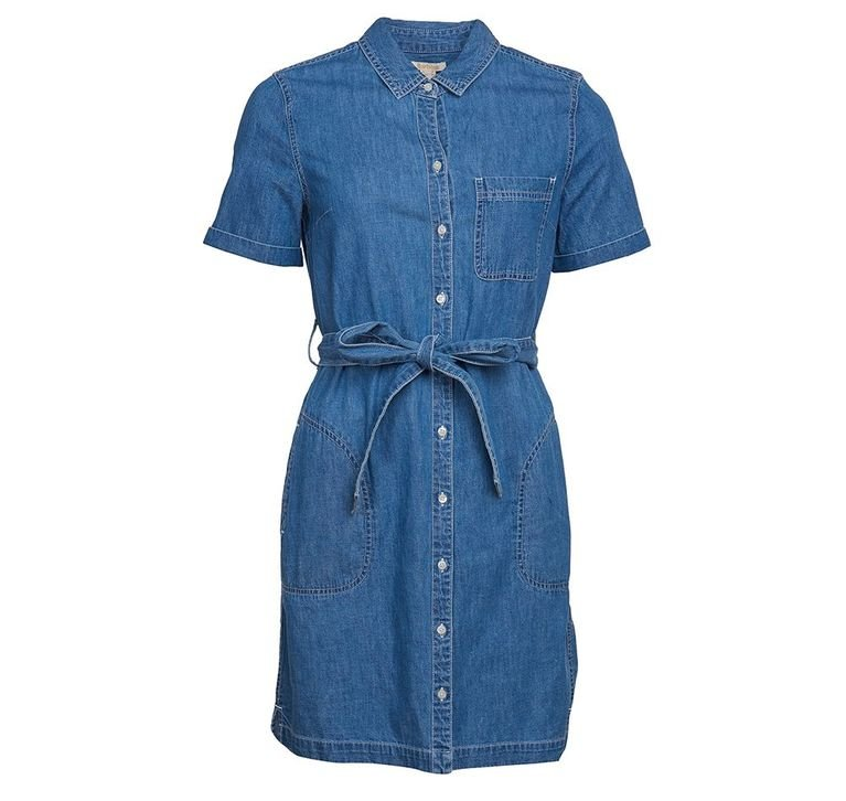 Barbour Seaboard Dress - Mid Wash
