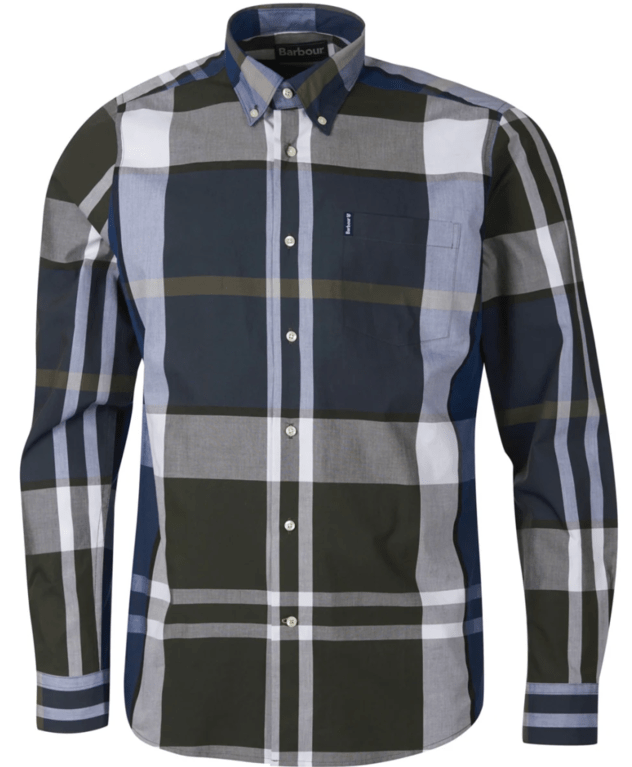Barbour Tartan 12 Tailor Fit Shirt - Sage