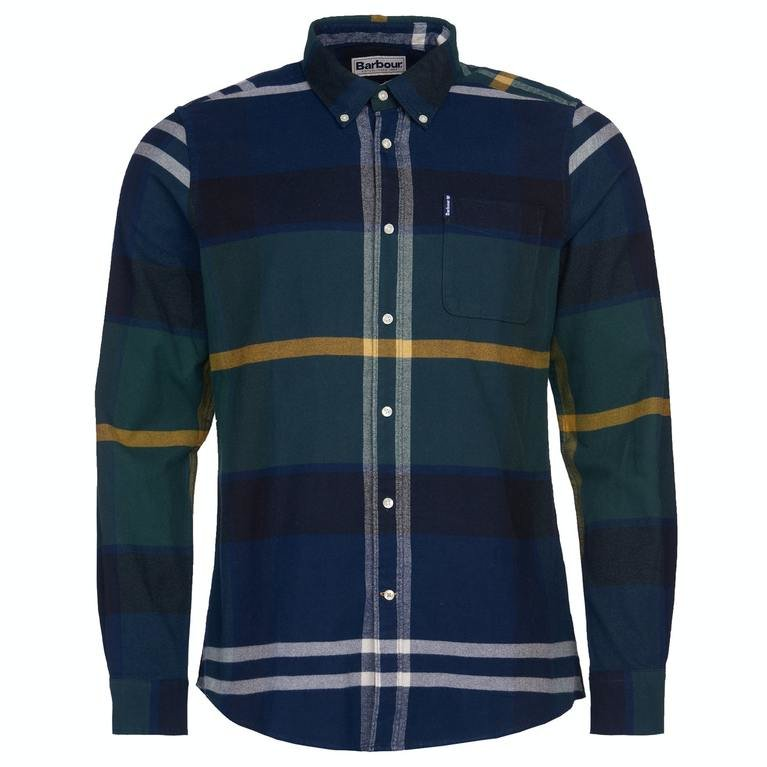Barbour Tartan 7 Tailored Fit Shirt - Seaweed