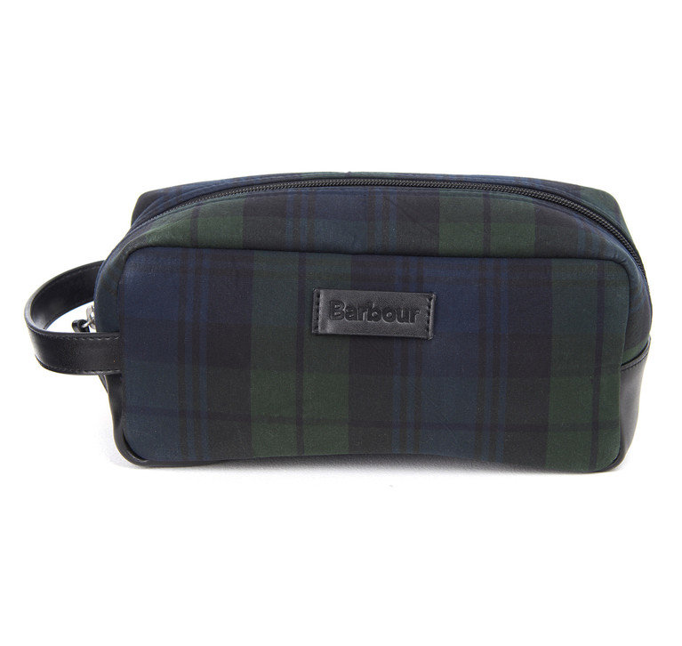 Barbour Tartan. Wax Wash Bag - Black Watch