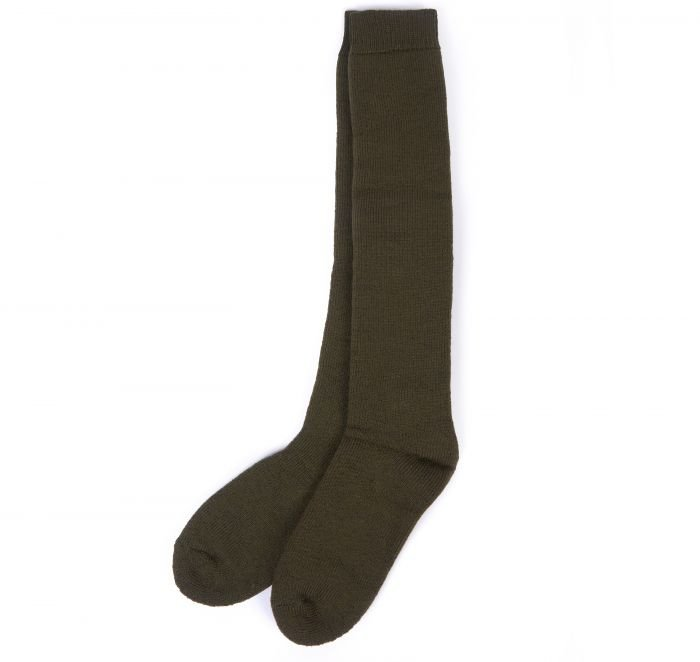 Barbour Wellington Knee Sock - Olive