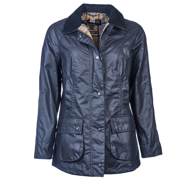 Barbour Classic Beadnell Wax Jacket - Navy