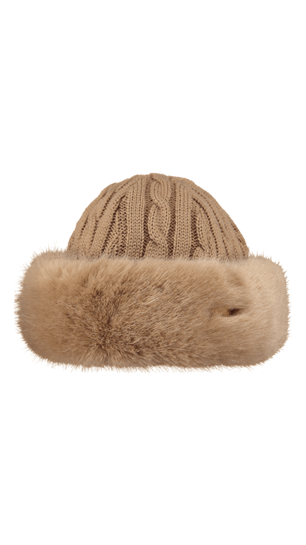 Barts Fur Cable Bandhat  - Light Brown