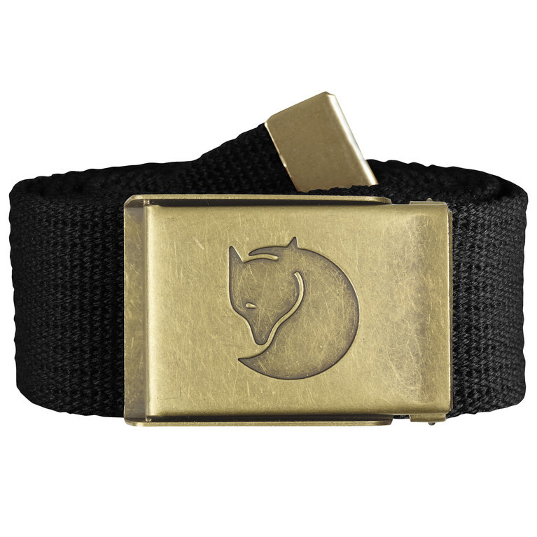Fjallraven Canvas Brass Belt - Black