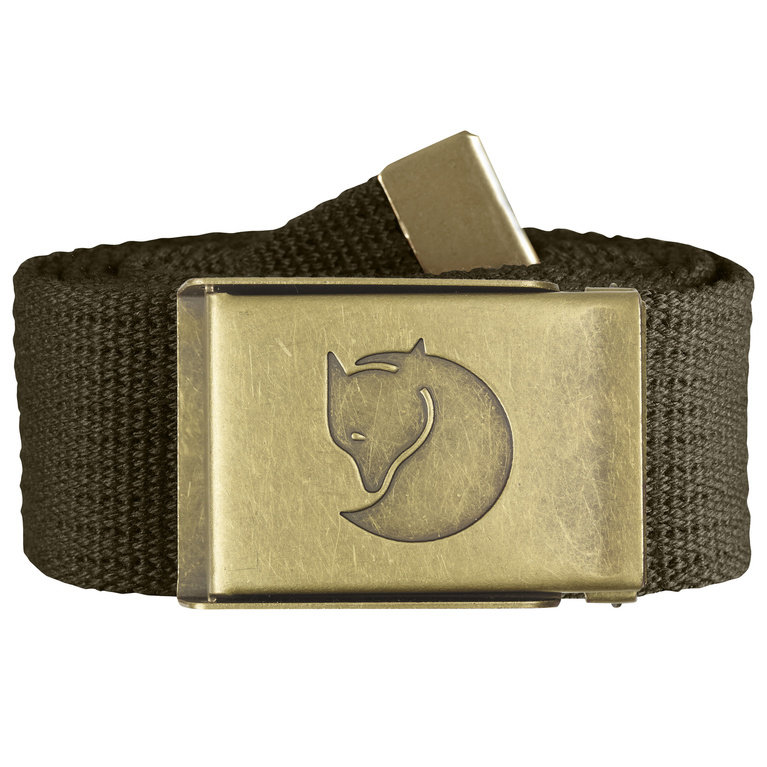 Fjallraven Canvas Brass Belt - Dark Olive