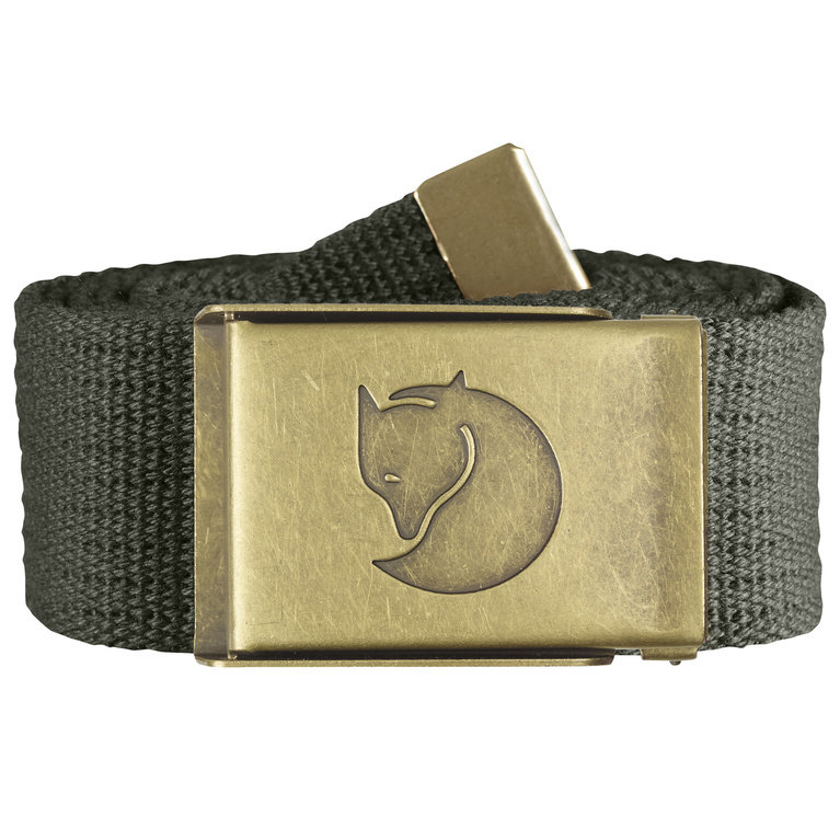Fjallraven Canvas Brass Belt - Mountain Grey