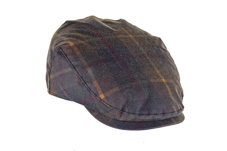 Heather Hat's Charles Tartan Wax Cap - Hunter