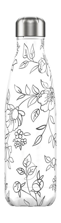 Chilly's Bottle 500ml  - Line Drawn Flowers