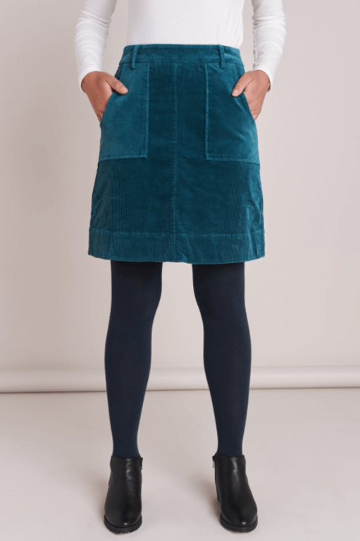 Mistral Chunky Cord Skirt - Colonial Blue