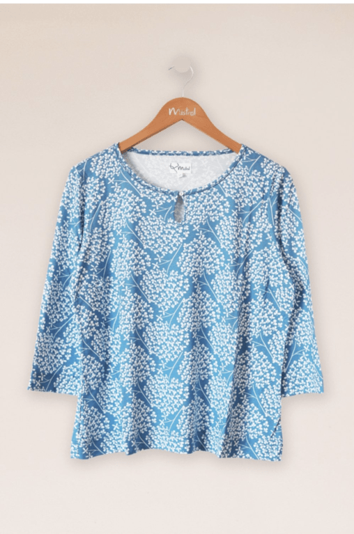 Mistral Clover Field Top - Blue/White