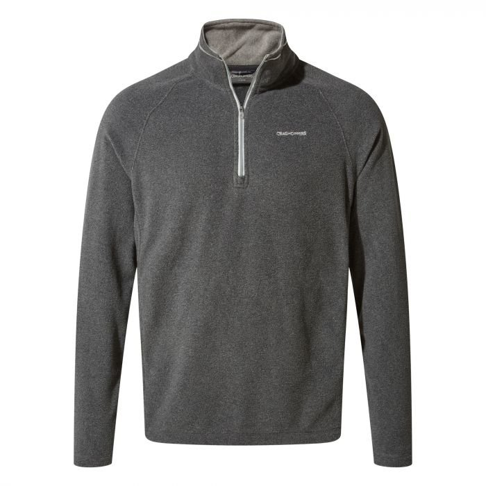 Craghoppers Corey Half Zip Fleece - Black Pepper Marl