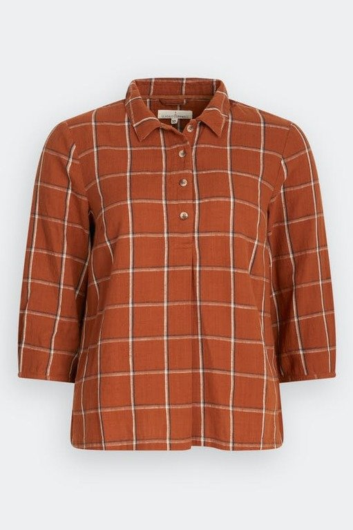 Seasalt Corwena Shirt - Focsle Red Fox