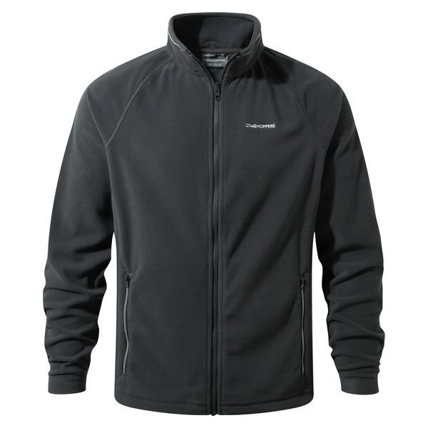Mens Craghoppers Selbly Full Zip fleece - Black Pepper
