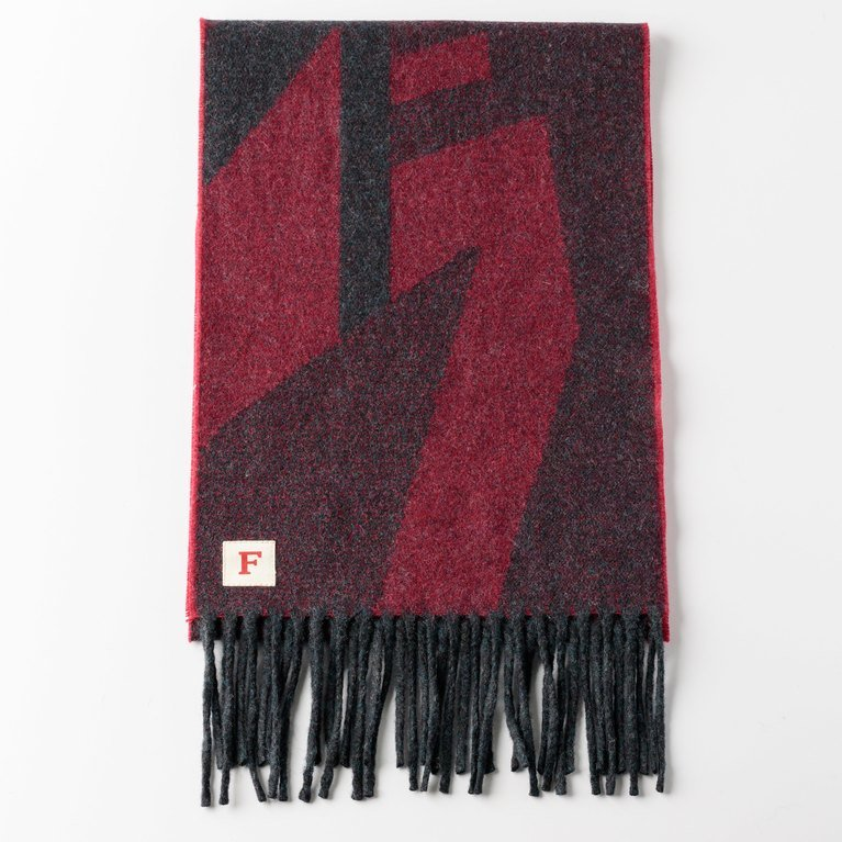 Finnieston The Dazzle Scarf - Red