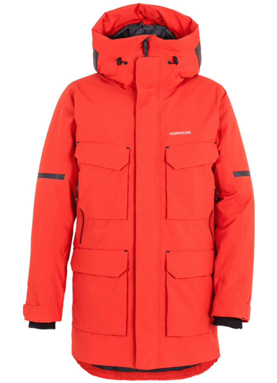 Didriksons Men's Drew Parka - Lava Red